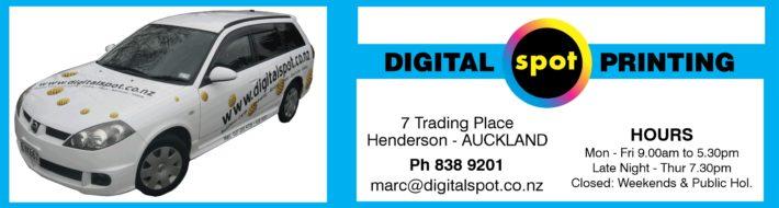 Digital Spot Printing Hours 2020 Auckland NZ Henderson